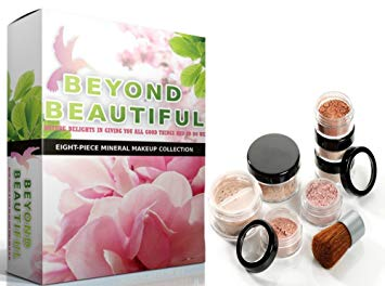 8pc Full Size Beyond Beautiful Bare Skin Perfecting Poreless Mineral Makeup Kit   LIGHT &...