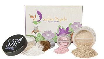 4pc Essential Beauty Mineral Makeup Minimalist Kit | FAIR Matte Foundation | Organic &...