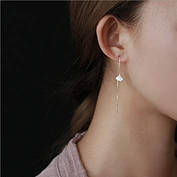 A&C Fashion Korean Version Alloy Ginkgo Leaves Earrings for Women. Unique Handmade Earrings Jewelry for Girl....