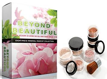 8pc Beyond Beautiful Gluten Free Bare Skin Improving Pure Mineral Makeup Kit | MEDIUM...