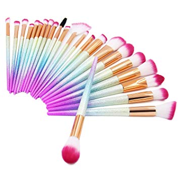 Green Beauty Mall Make Up Brushes 24 Pieces Professional Makeup Brush Set Foundation Powder...